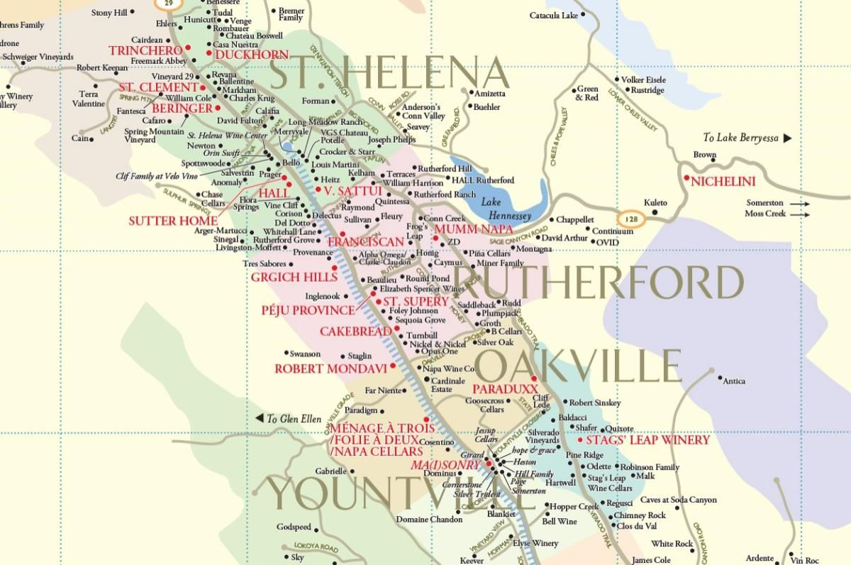 Plan Your Wine Country Vacation With Our Napa Valley Winery Map To - Napa California Map