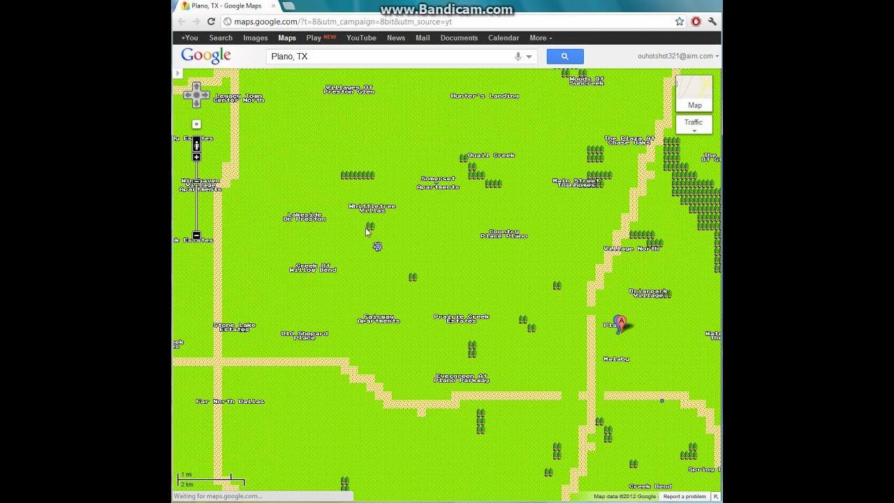 Plano, Texas In 8-Bit Google Maps - Youtube - Google Maps Plano Texas