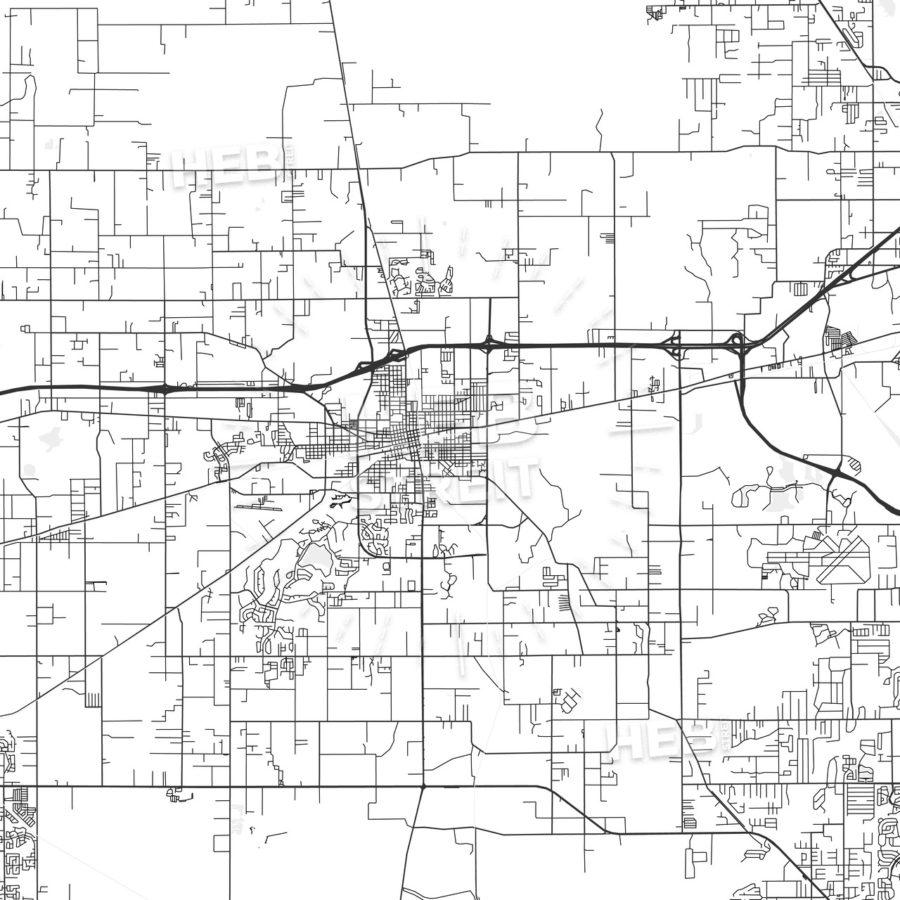 Plant City, Florida - Area Map - Light | Hebstreits Sketches - Plant City Florida Map