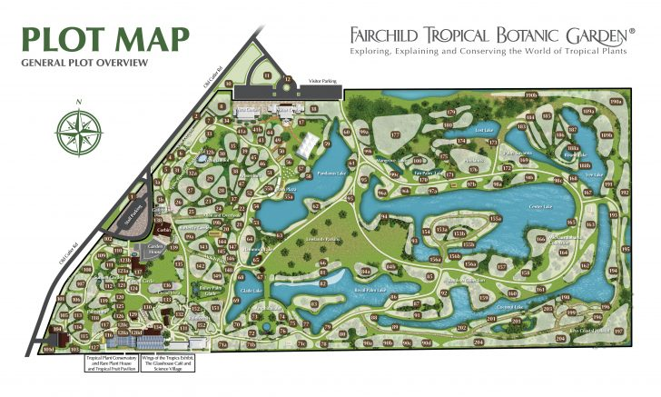 Florida Botanical Gardens Tourist Map