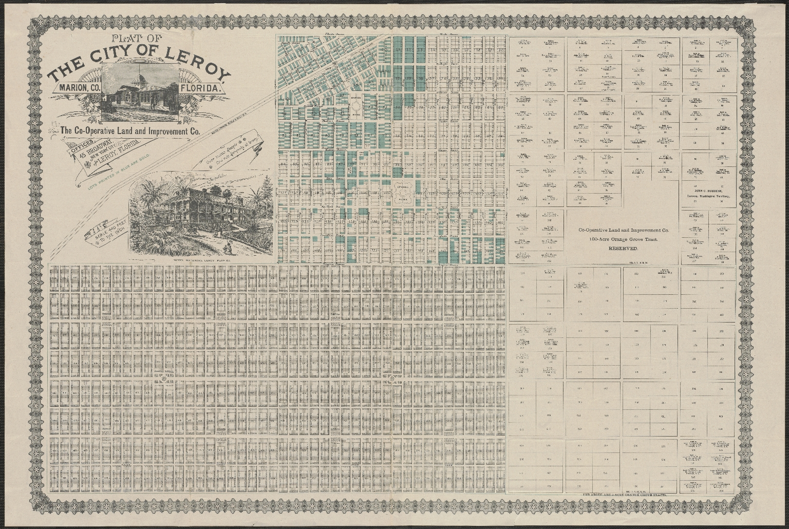 Plat Of The City Of Leroy, Marion County, Florida - Touchton Map Library - Marion County Florida Plat Maps