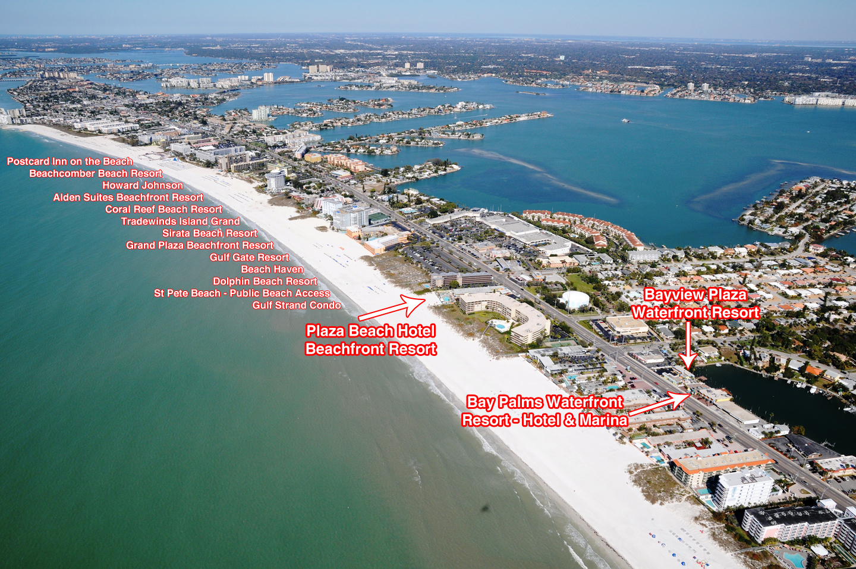 Plaza Beach Hotel Beachfront Fabulous The Beachcomber Beach Resort - Map Of Hotels On St Pete Beach Florida