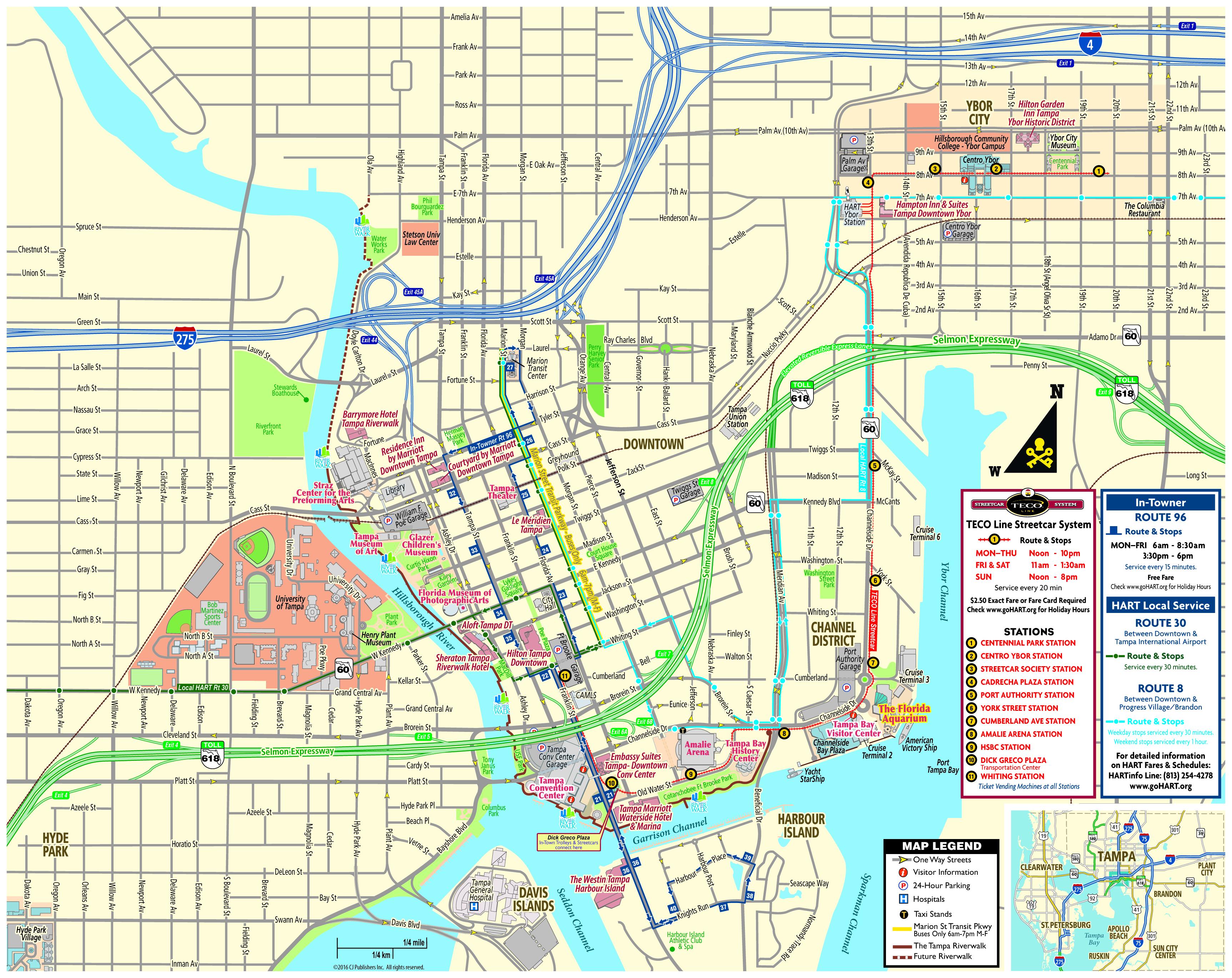 Pocket Map - Cruise Terminal Tampa Florida Map