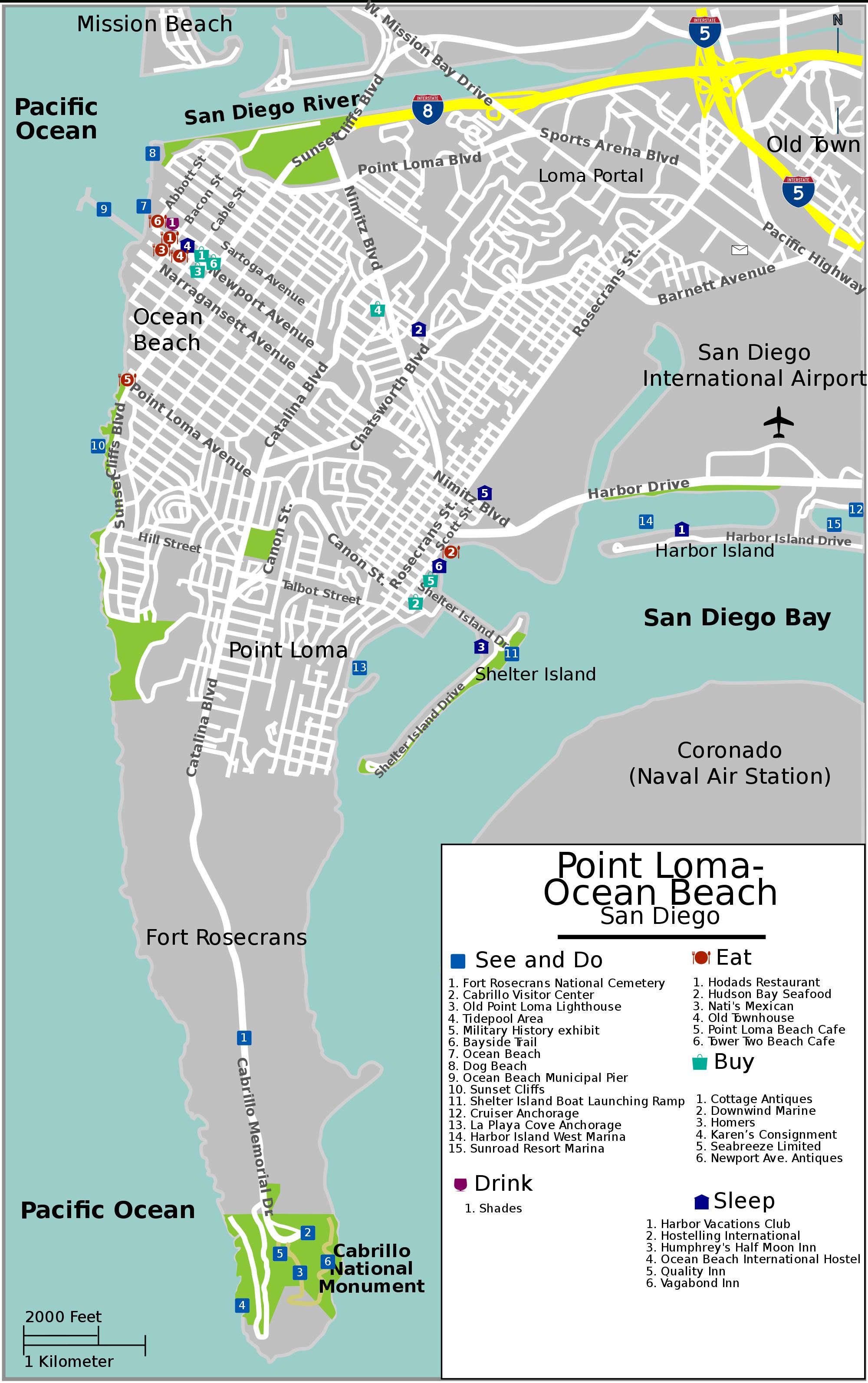 Point Loma, San Diego - Wikipedia - Loma Linda California Map