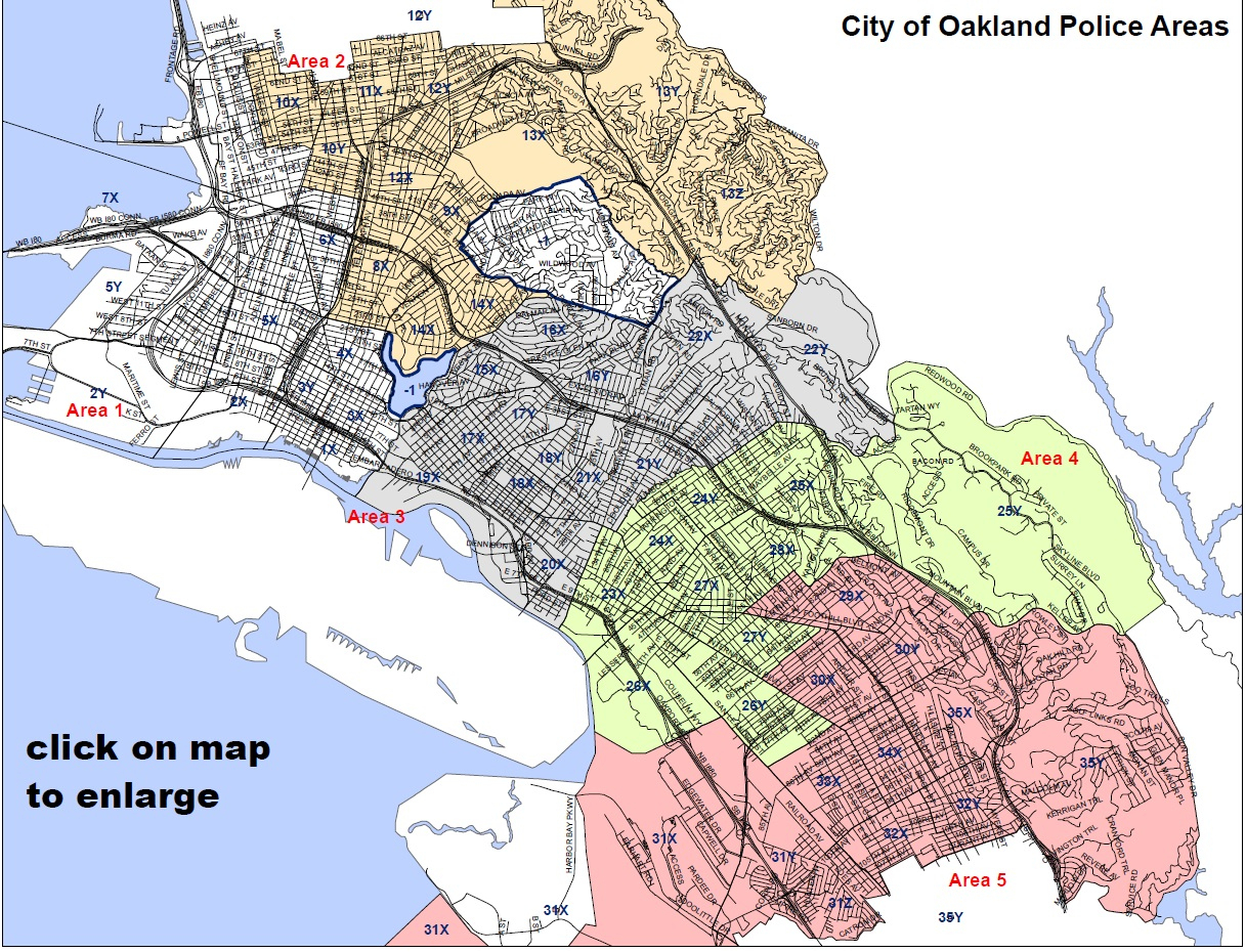 Police Department Within Oakland California Map Roundtripticket Me - Oakland California Map