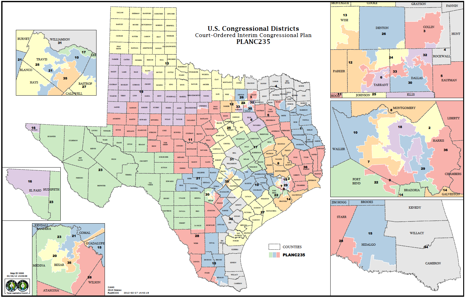 Political Participation: How Do We Choose Our Representatives - Texas Congressional Map