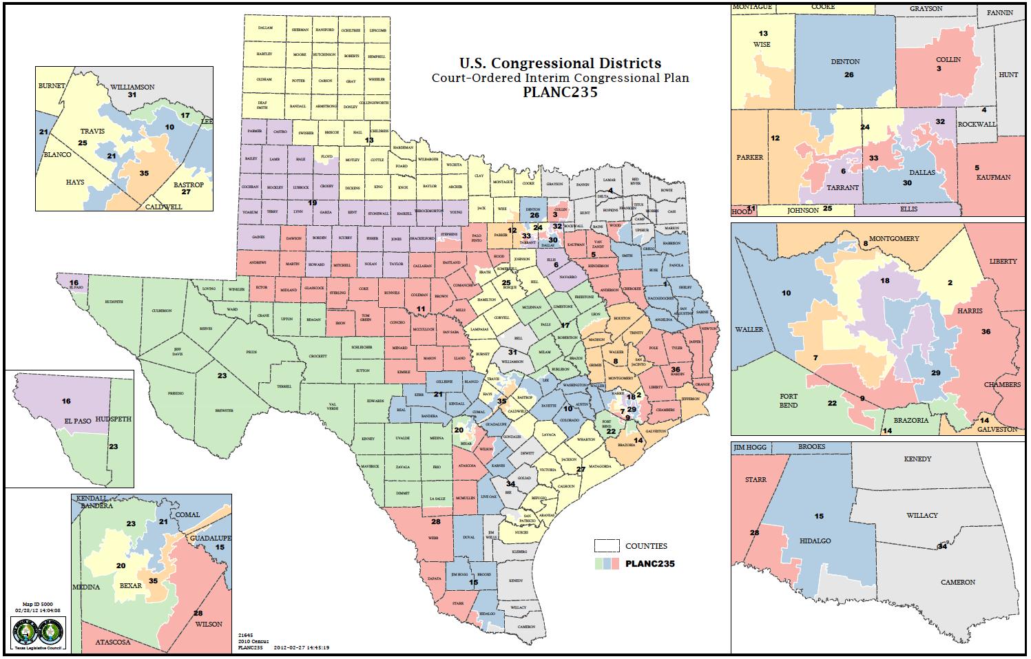 Political Participation: How Do We Choose Our Representatives - Texas State Representatives District Map