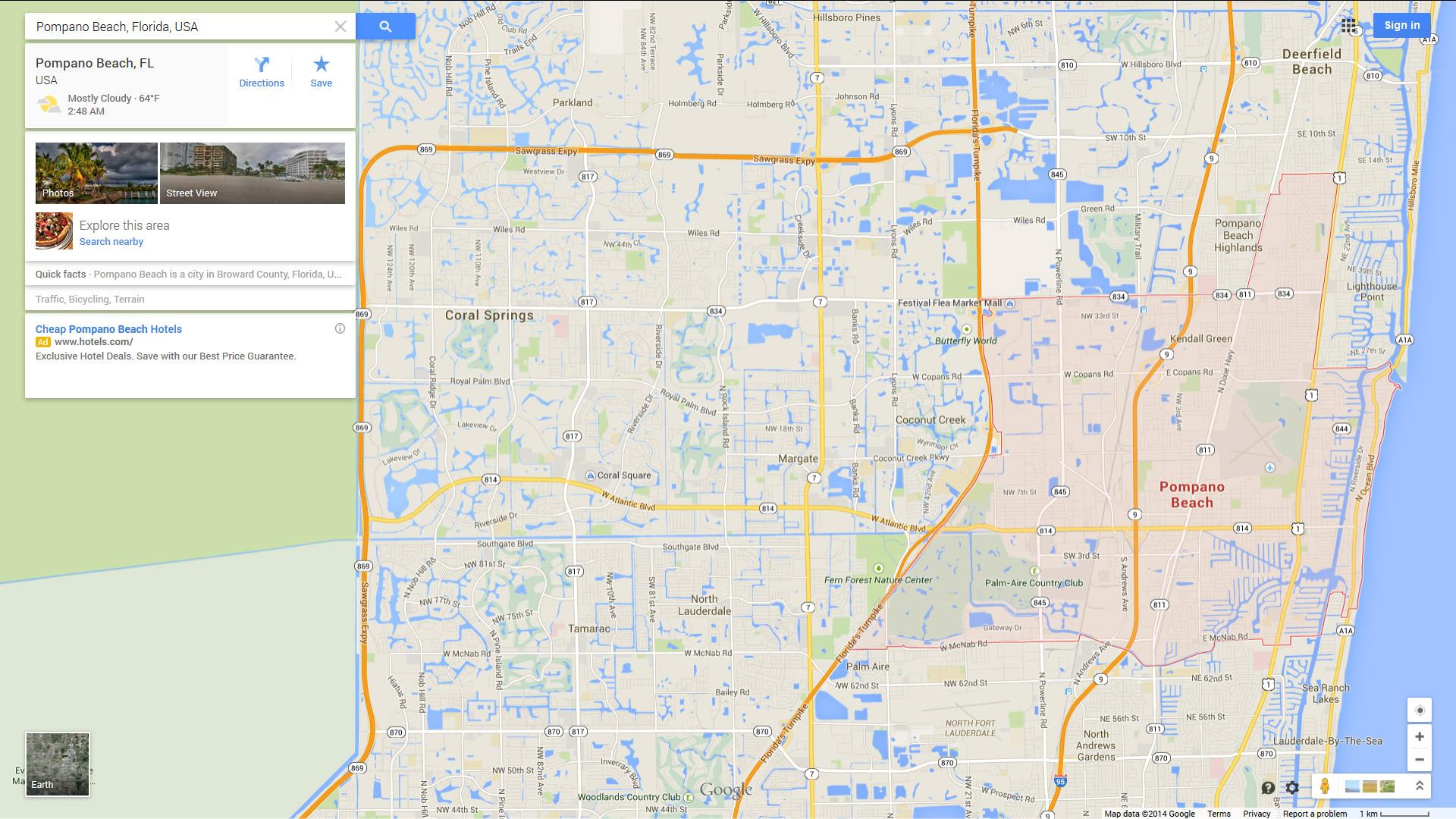 Pompano Beach, Florida Map - Florida Street Map