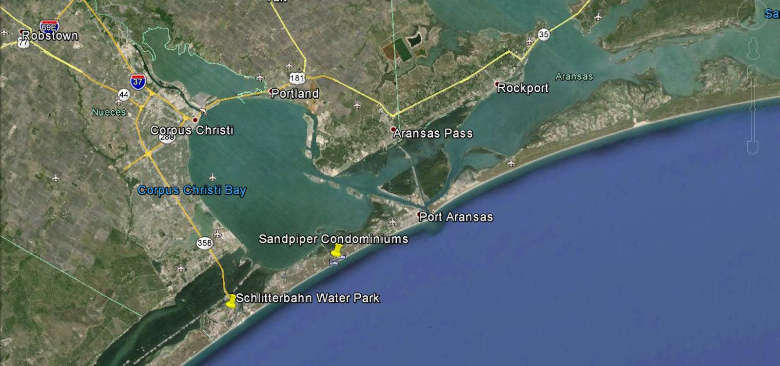 Port Aransas Map | Sandpiper Condos Location & Directions - Google Maps Port Aransas Texas