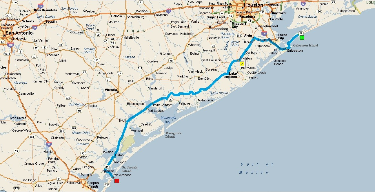 Port Aransas Texas Map Street - Map Of Port Aransas Texas Area