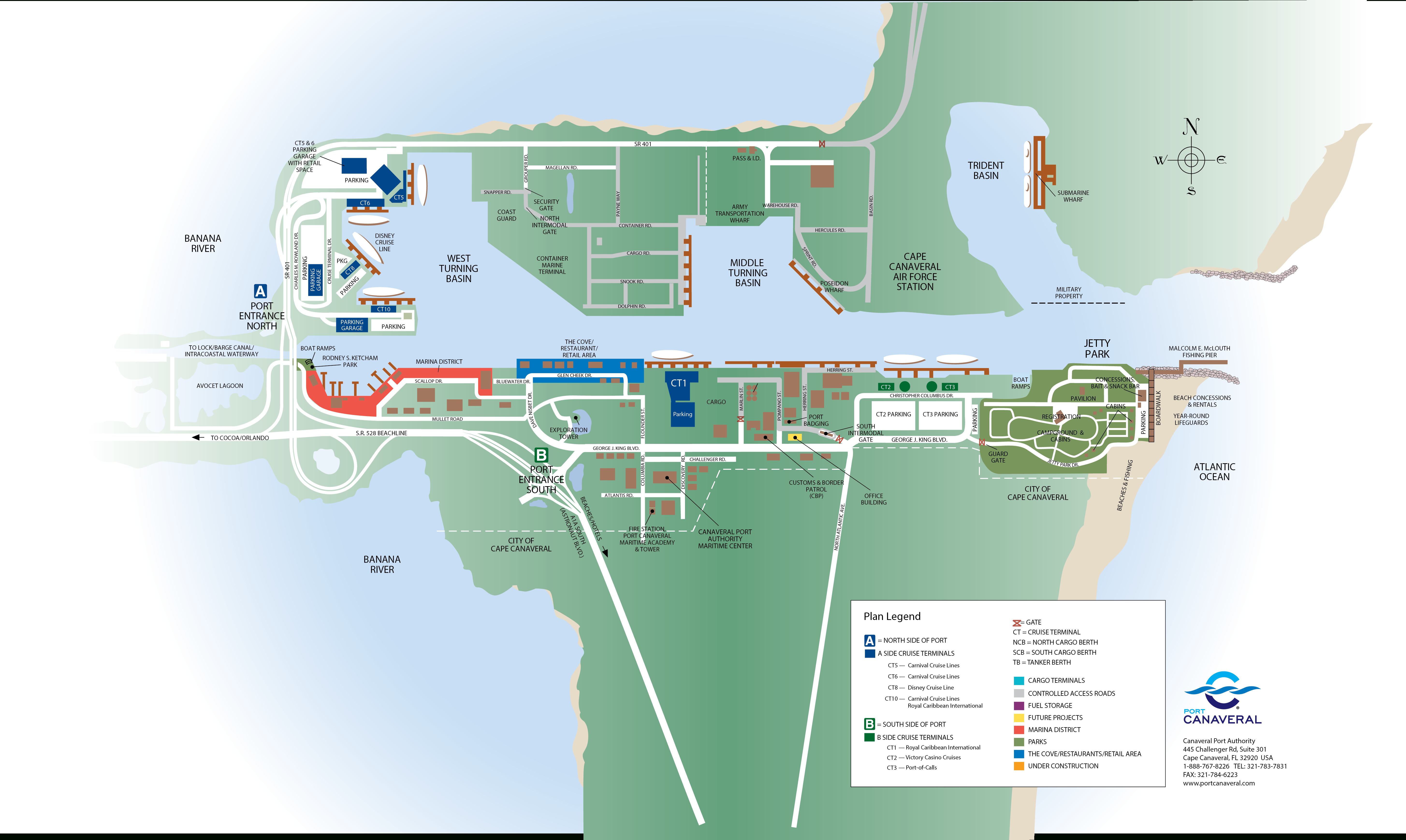 Port & Cruise Facts - Map Of Carnival Cruise Ports In Florida
