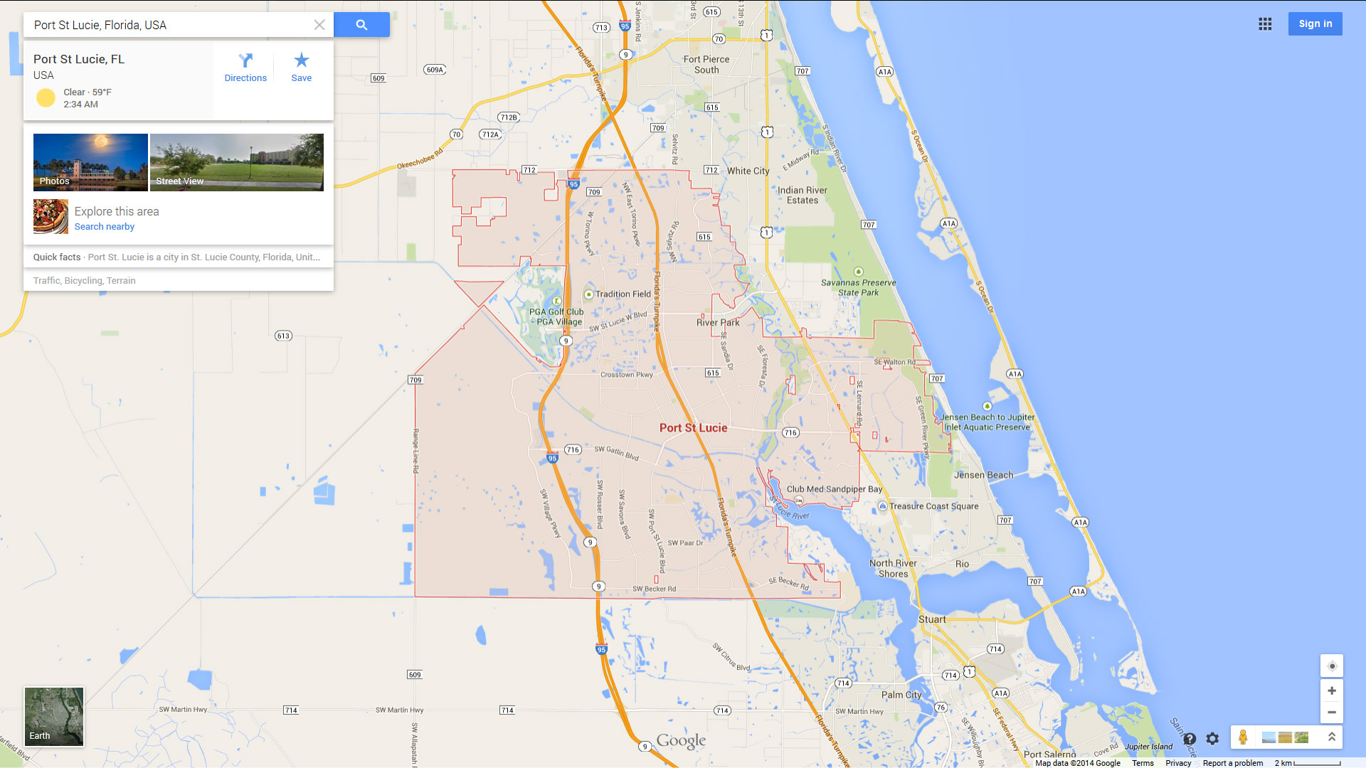 Port St. Lucie, Florida Map - Florida Map With Port St Lucie