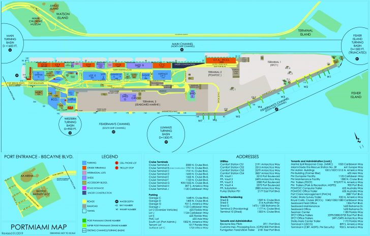 Map Of Cruise Ports In Florida