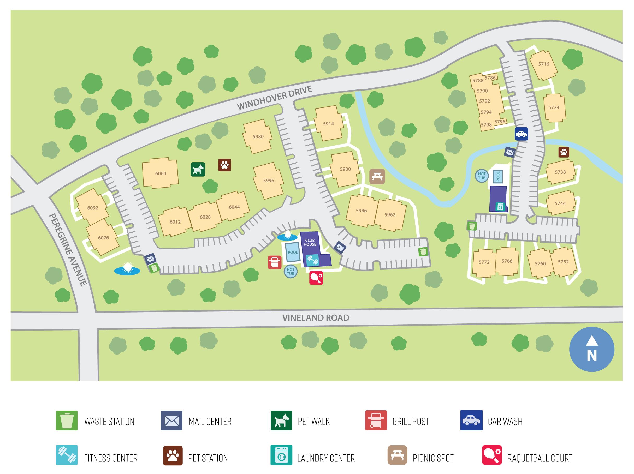 Portofino | 1-2 Bed Orlando Apts, Furnished Units Available - Portofino Florida Map