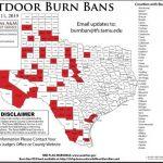 Potter, Hemphill Counties Now Under Burn Ban   Burn Ban Map Of Texas