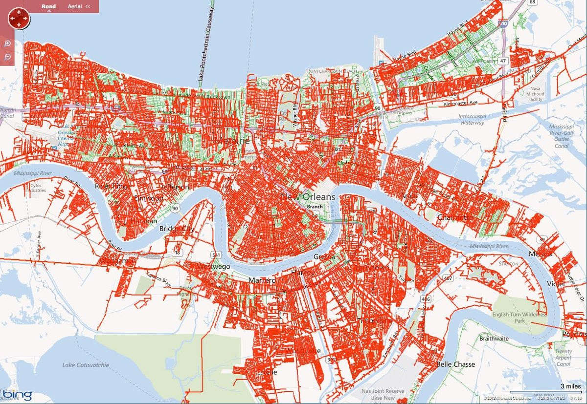 Power Outage Map Shows Isaac's Effect On Area Grid - Nola - Florida Power Grid Map