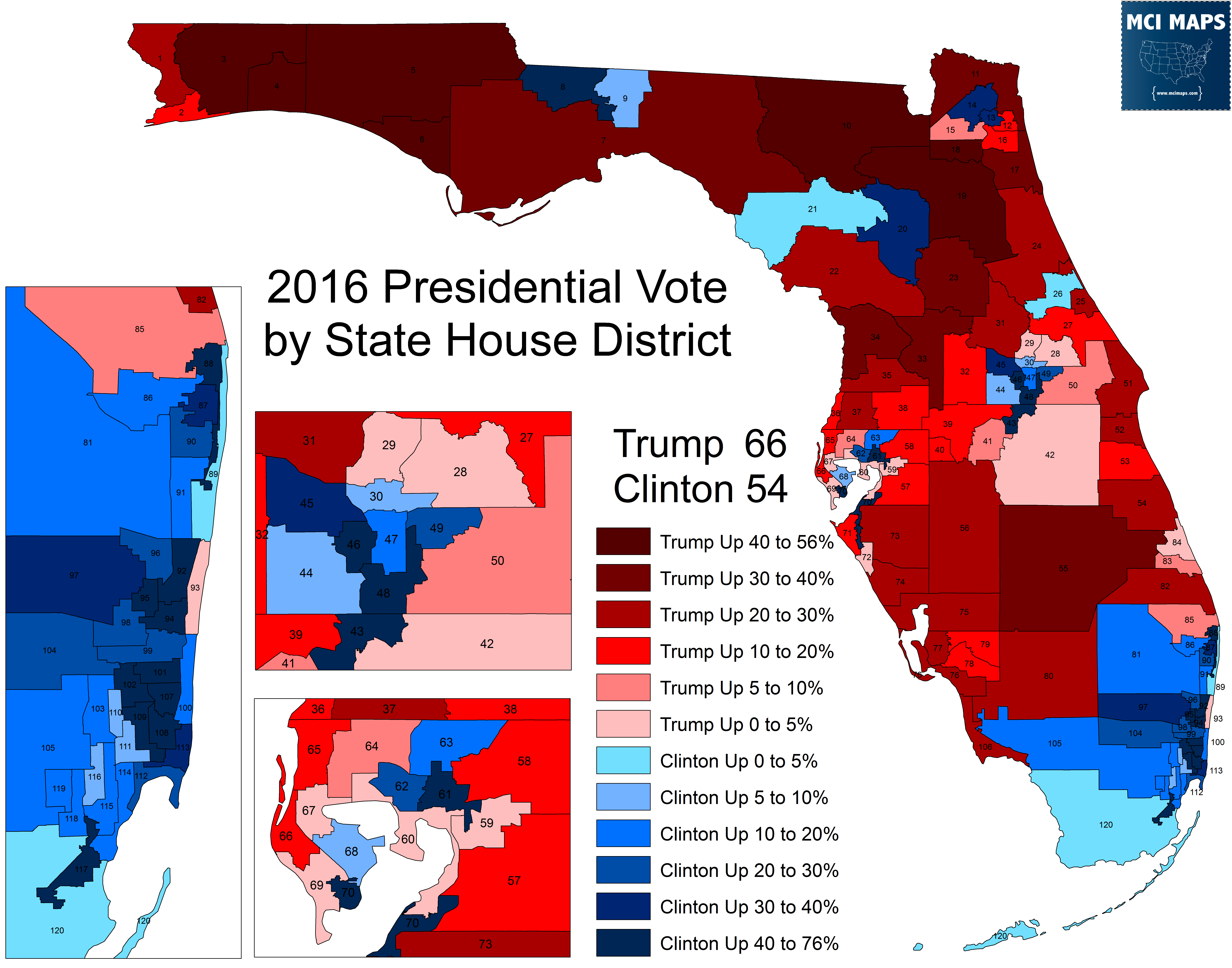 Presidential Resultsflorida State House District – Mci Maps - Florida House Of Representatives District Map