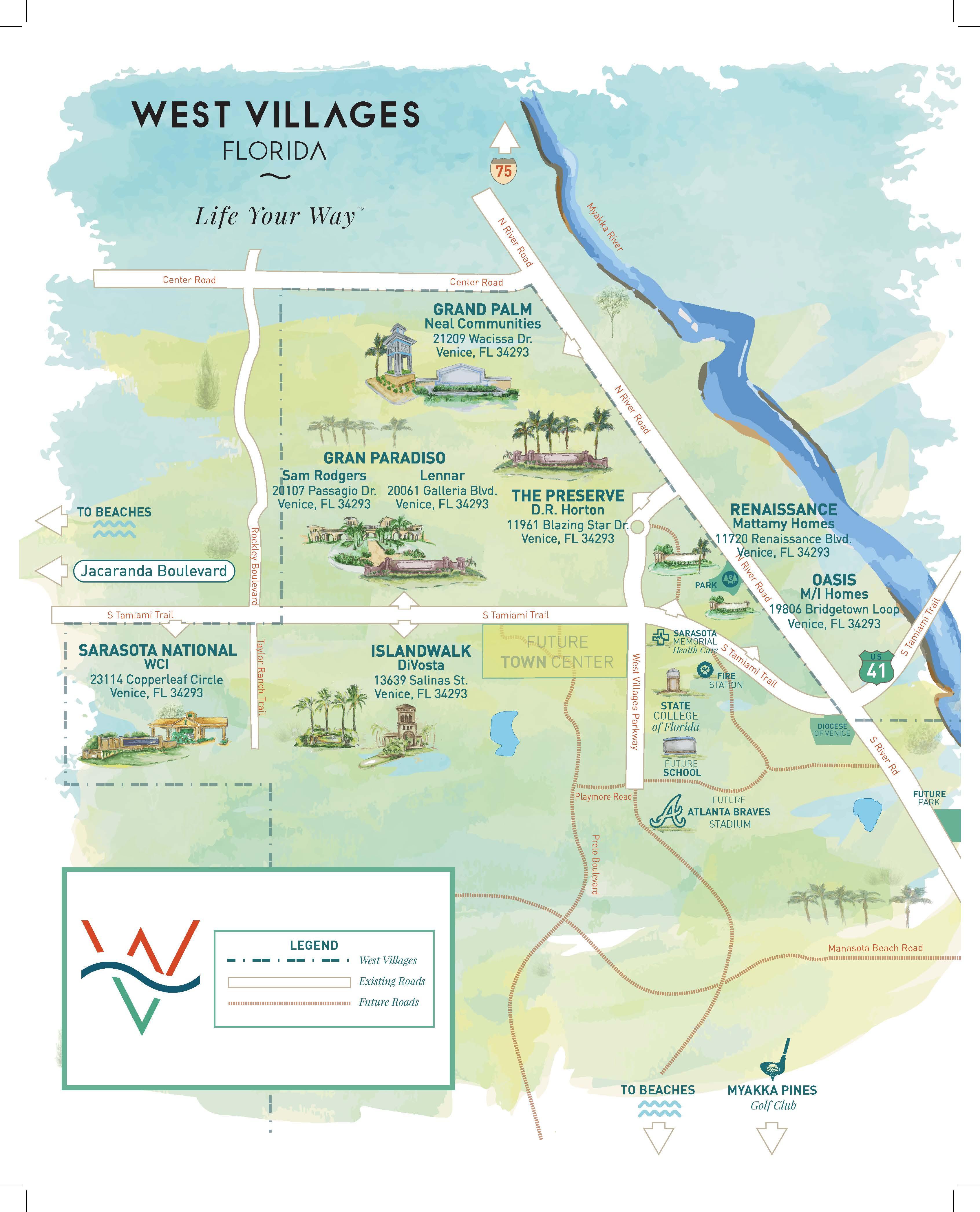 Press Releases - New Homes Sarasota, Home Builder Sarasota - Florida Spring Training Map