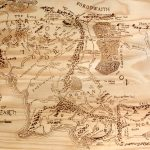 Print Of Hand Burned Map Of Middle Earth Wood Burn | Etsy   Printable Map Of Middle Earth
