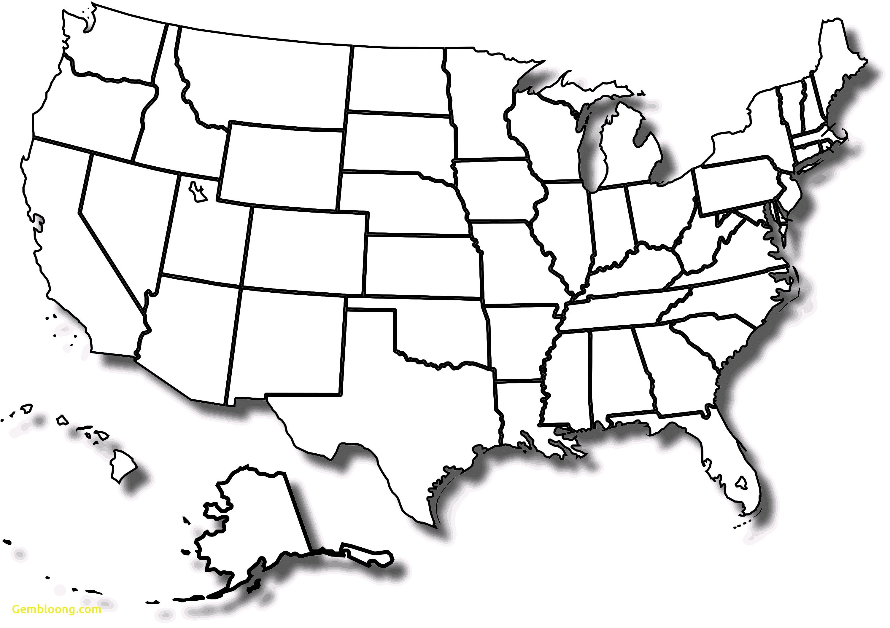 Printable Blank Us Map Free Blank Us Maps My Blog Luxury United - Map Of United States Without State Names Printable