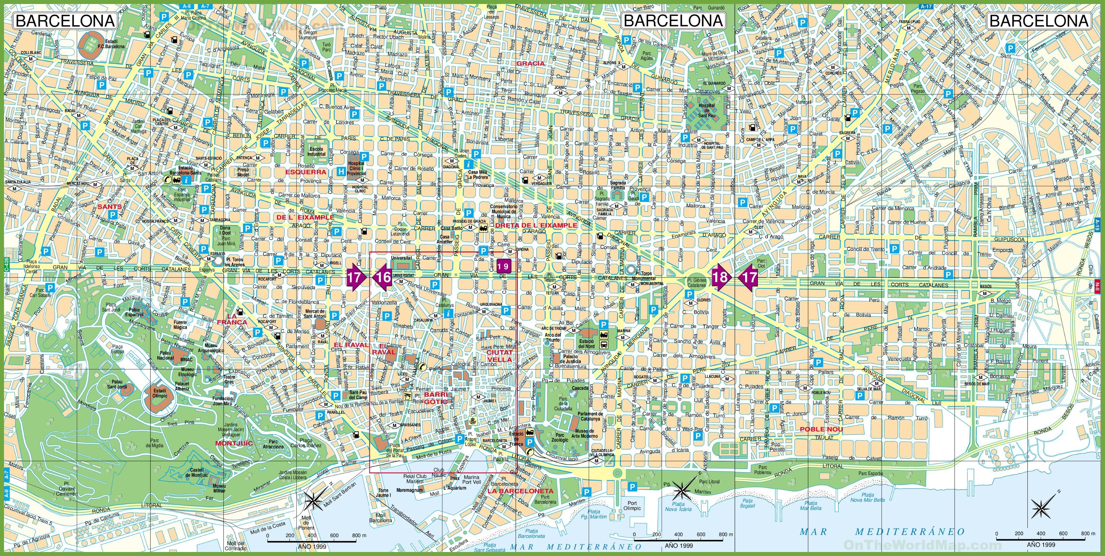 Printable City Street Maps | Printable Maps - Printable Street Maps Free