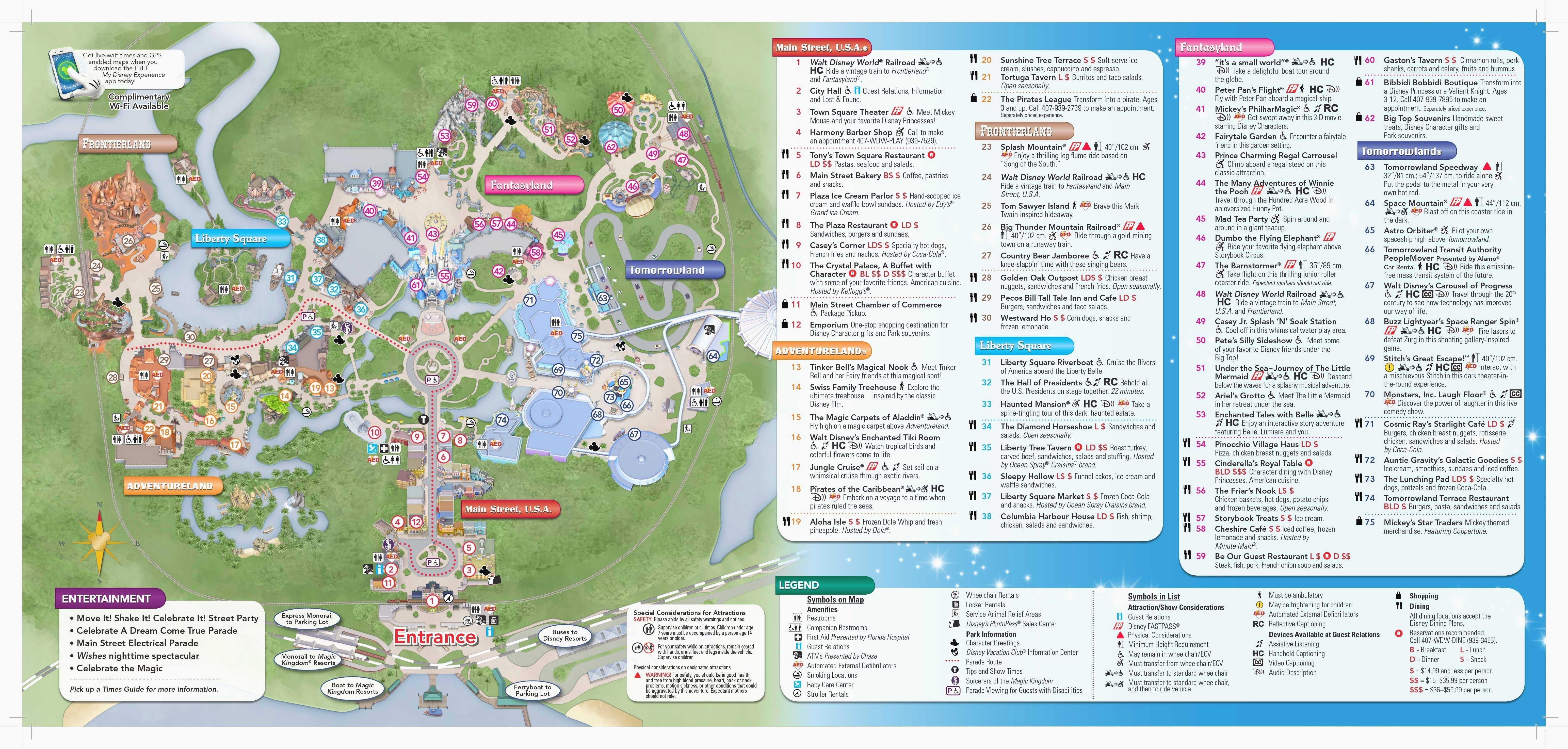 Printable Disney World Maps - Mobilacomanda - Printable Disney World Maps