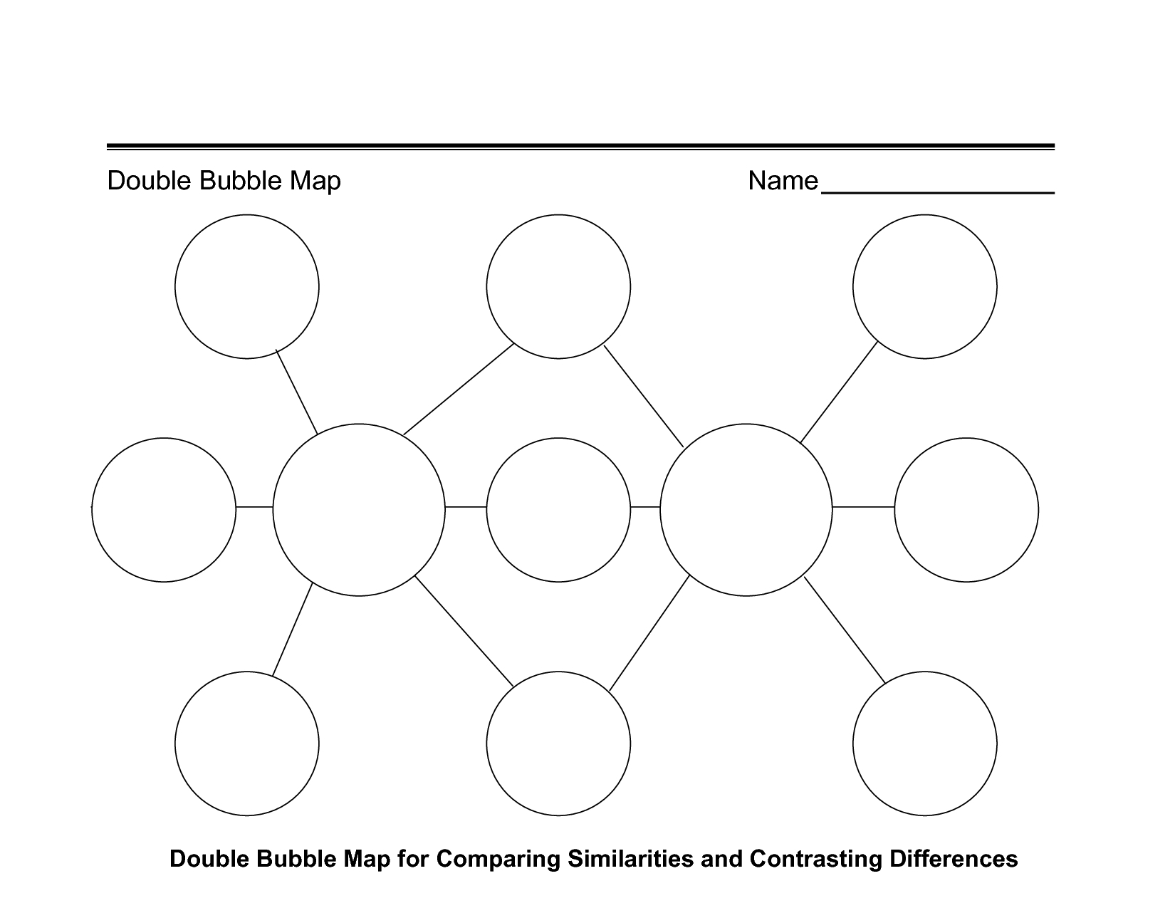 Printable Double Bubble Map | Online Calendar Templates - Double Bubble Map Printable