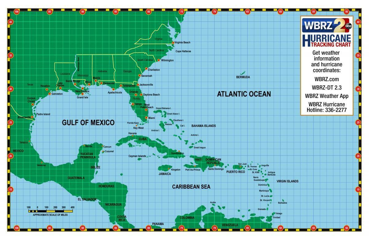 Printable Hurricane Tracking Chart   Weather Words And What They - Printable Hurricane Tracking Map