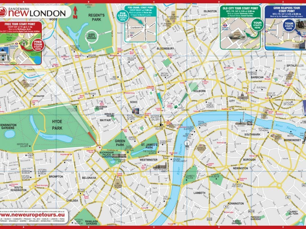 Printable London Street Map | Globalsupportinitiative - Printable Street Map Of London