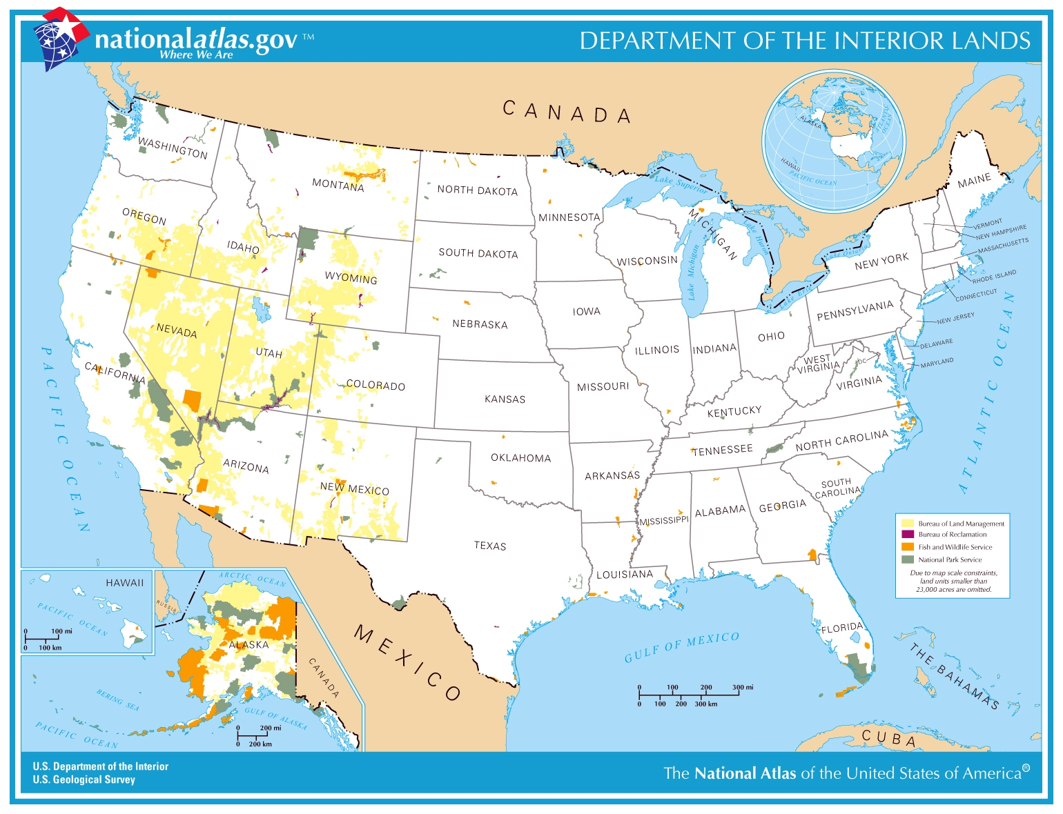 Printable Map - Department Of The Interior Lands - Usgs Printable Maps