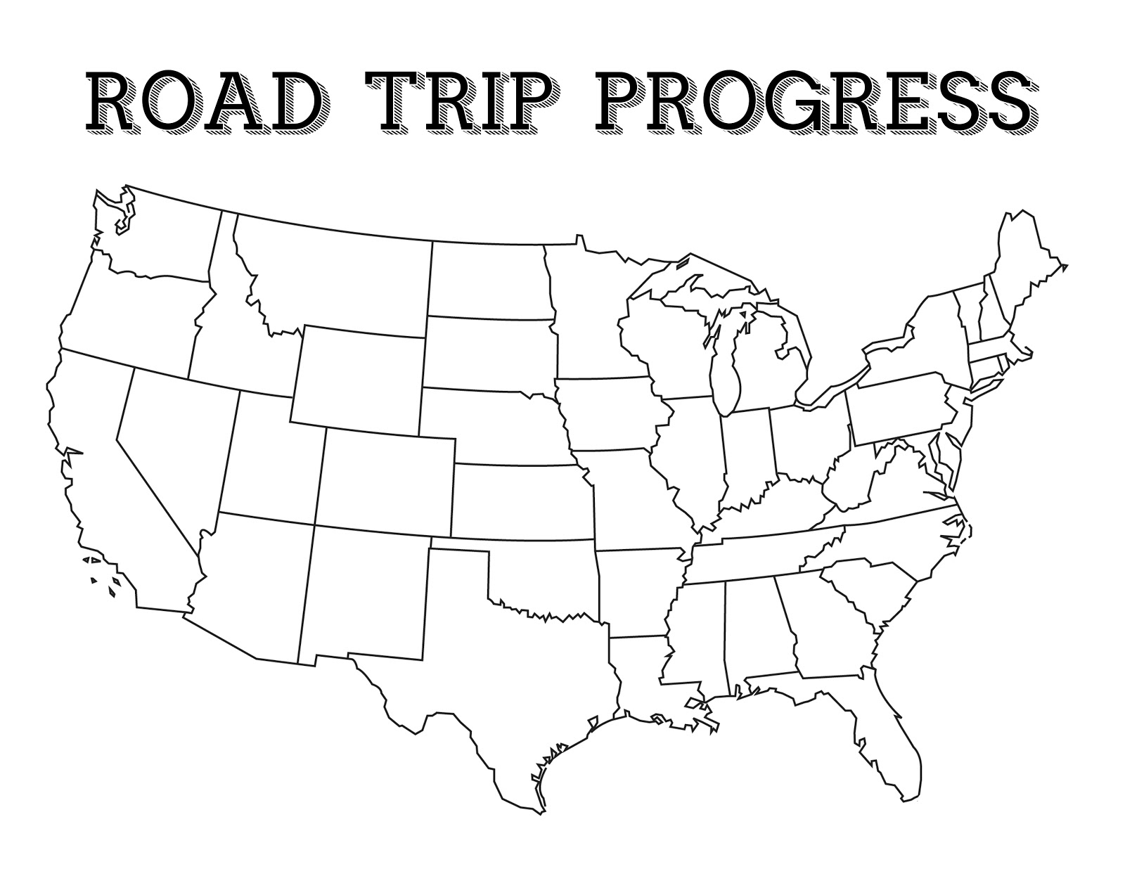 Printable Map For Road Trip | Download Them And Try To Solve - Printable Road Trip Maps