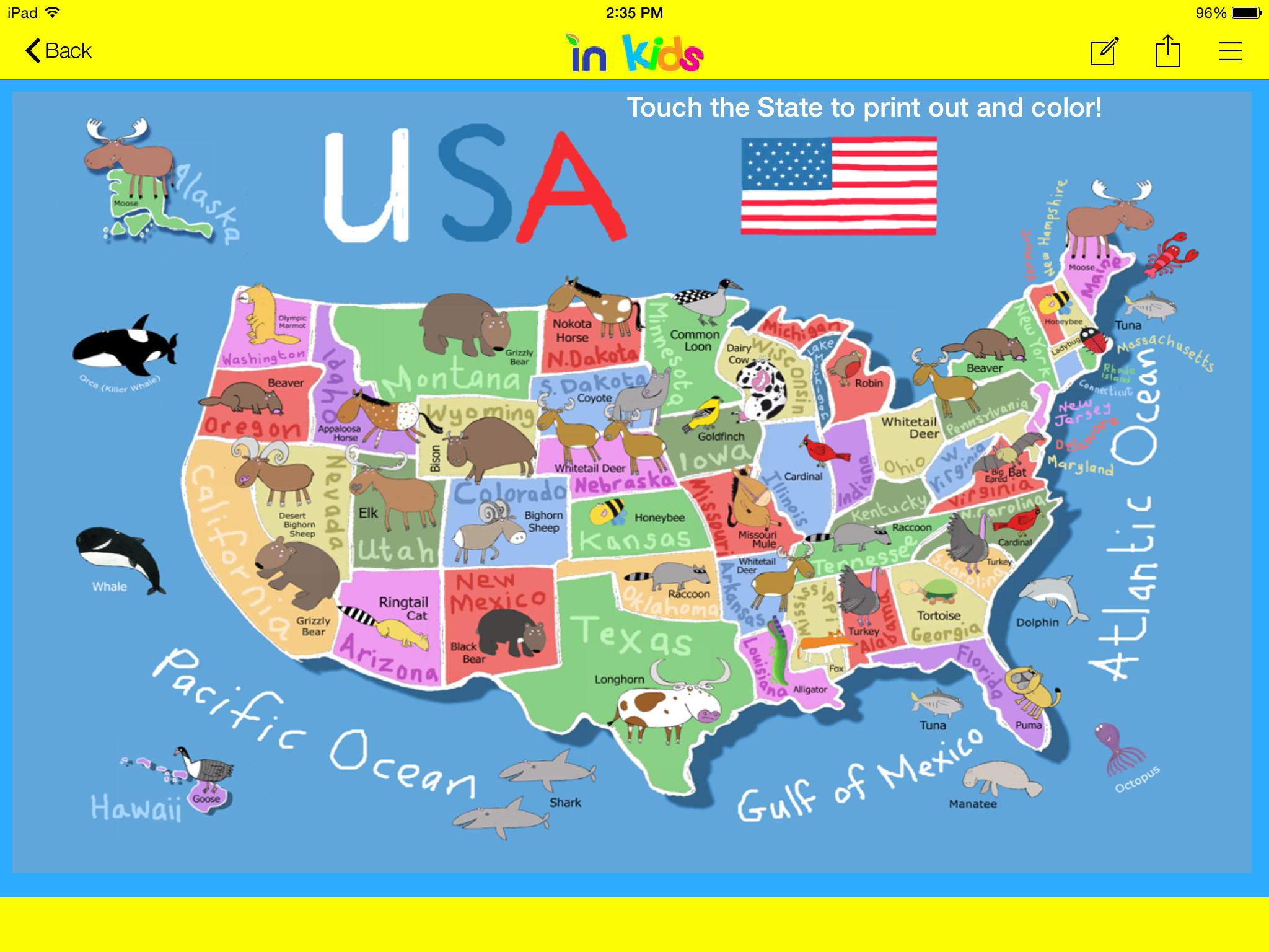 Printable Map Of California For Kids Reference Example Inbound Kids - California Map For Kids