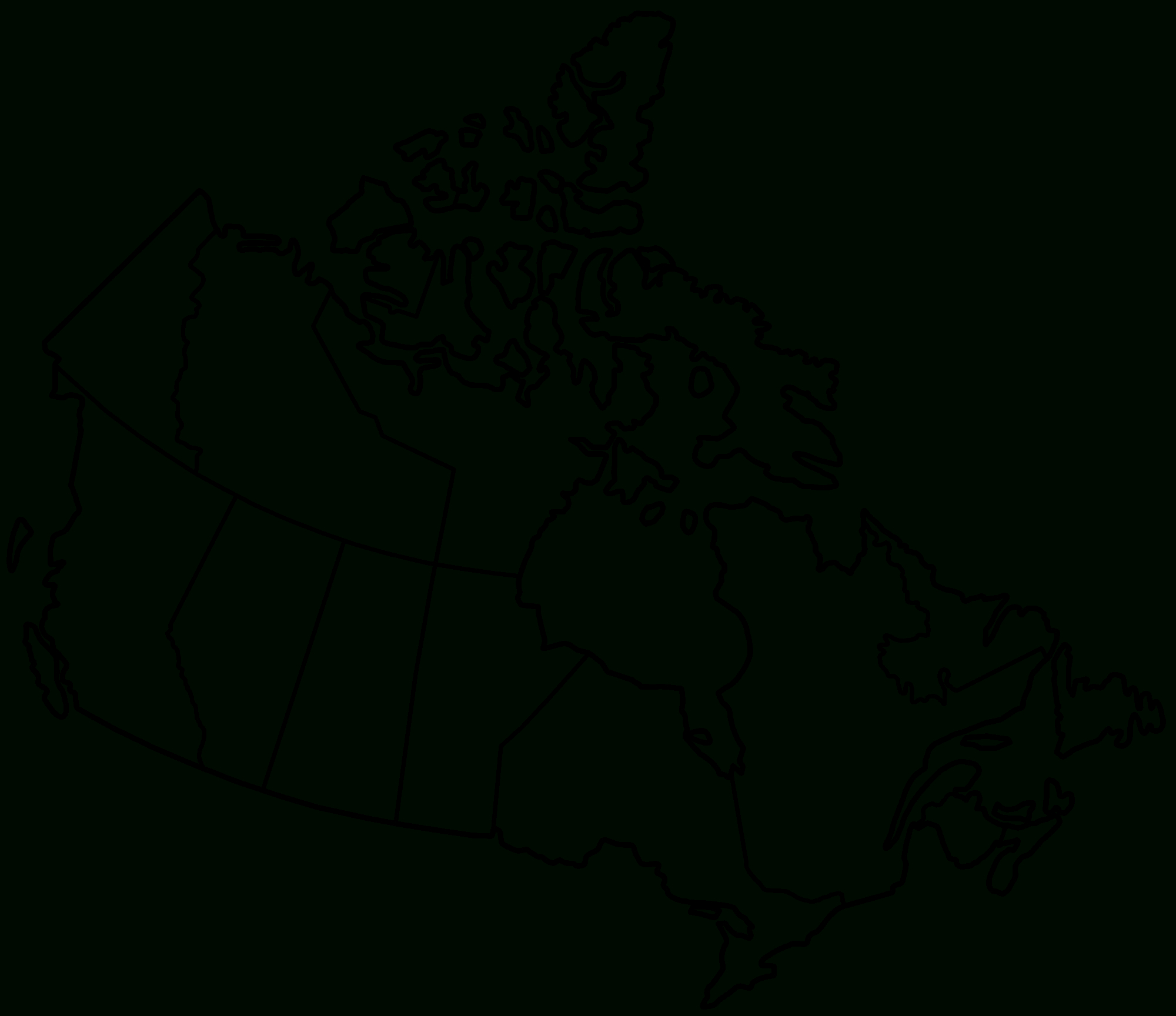 Printable Map Of Canada 6 #3856 - Printable Map Of Canada