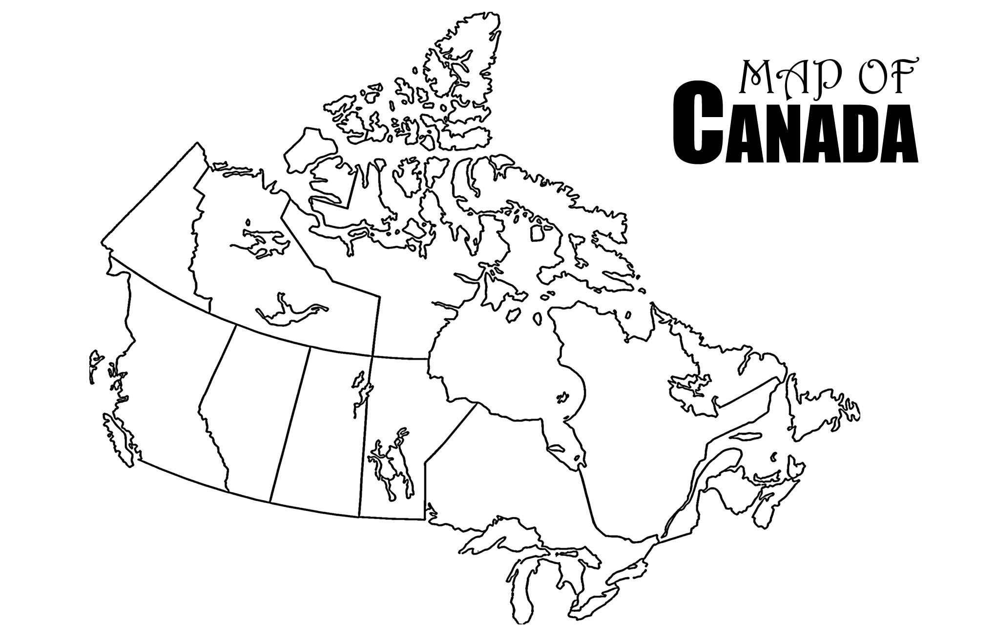 Printable Map Of Canada 9 #3859 - Large Printable Map Of Canada