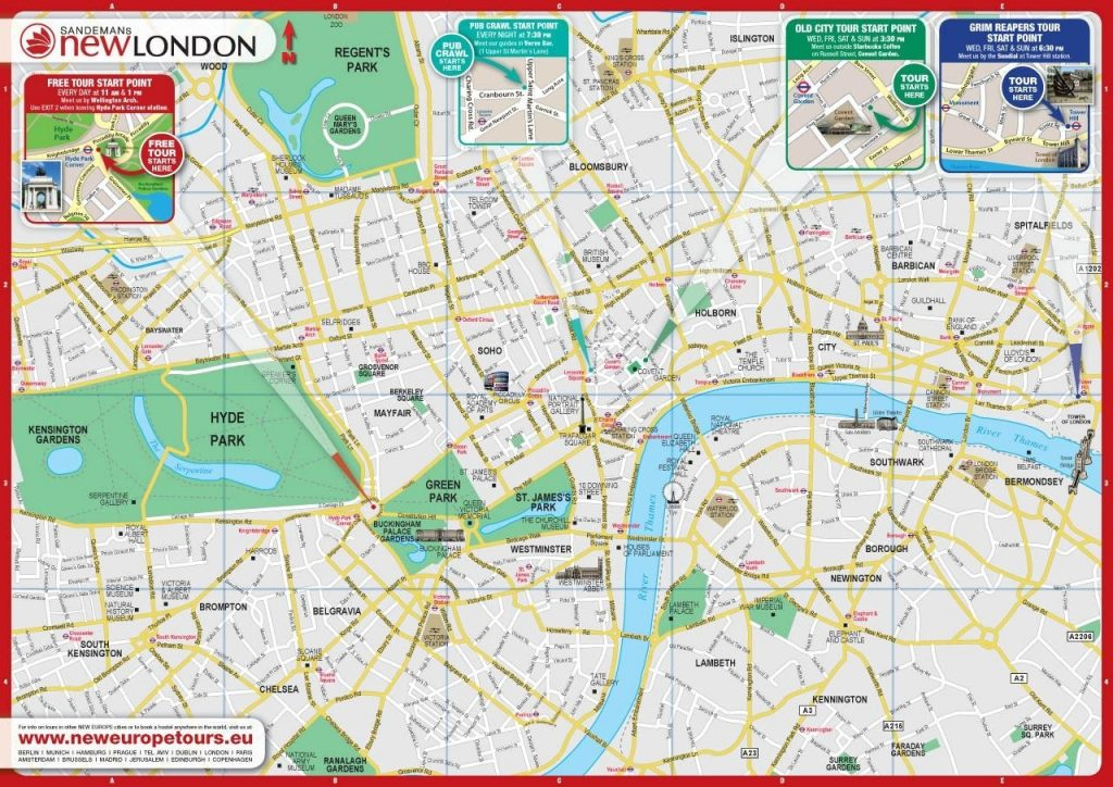 picture relating to Printable Map of London identified as Printable Map Of Central London Globalsupportinitiative