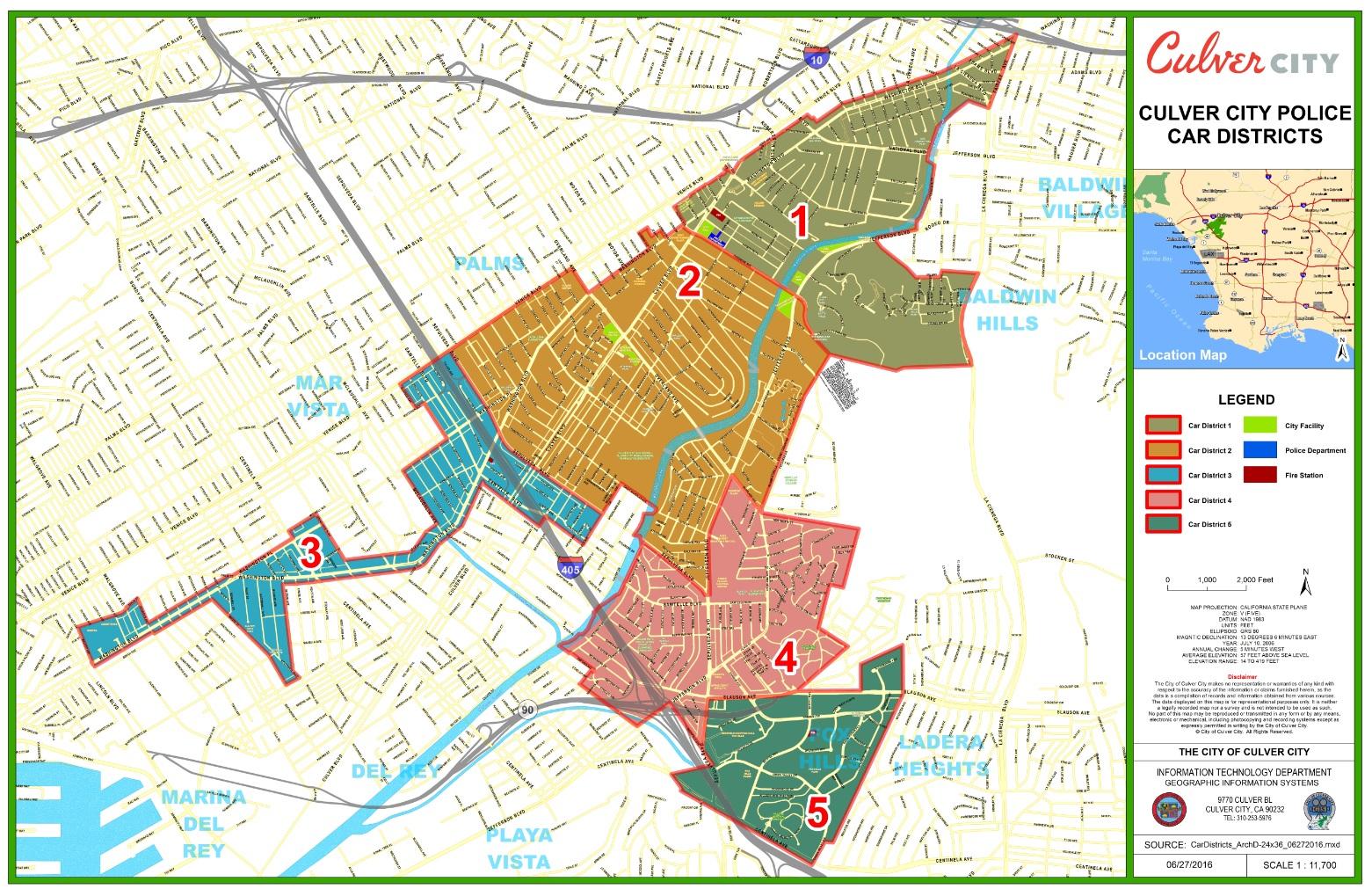 Printable Map Of Culver City California Map - Klipy - Culver City California Map