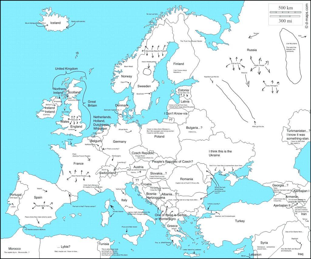 Printable Map Of Europe Labeled - 17.1.hus-Noorderpad.de ...