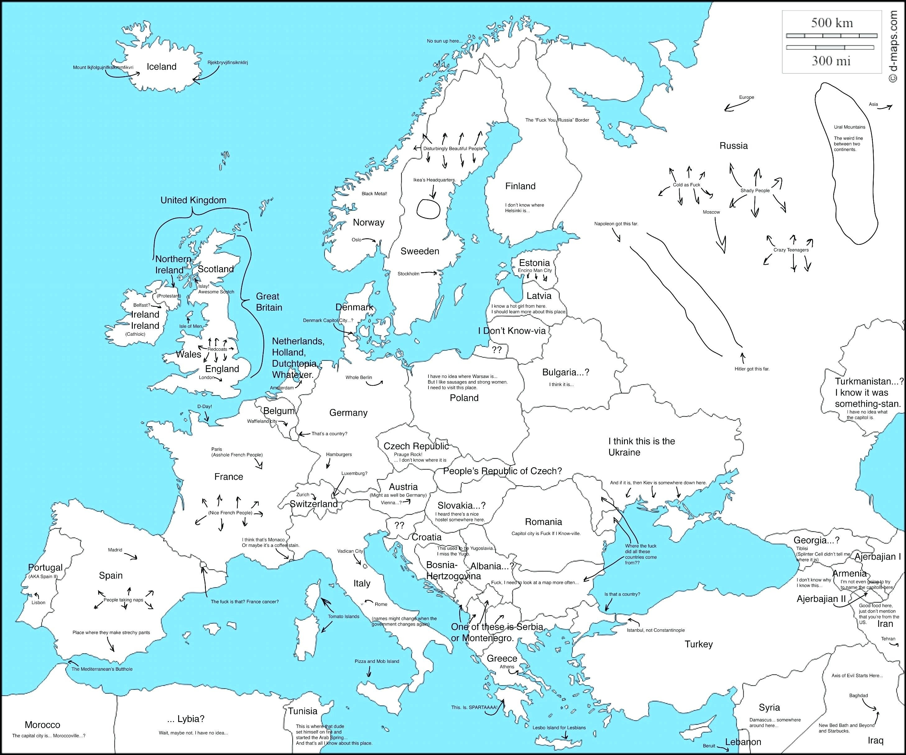 Printable Map Of Europe Labeled - 17.1.hus-Noorderpad.de ...