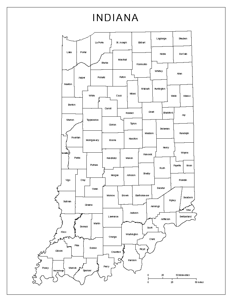 Printable Map Of Indiana And Travel Information | Download Free - Indiana State Map Printable