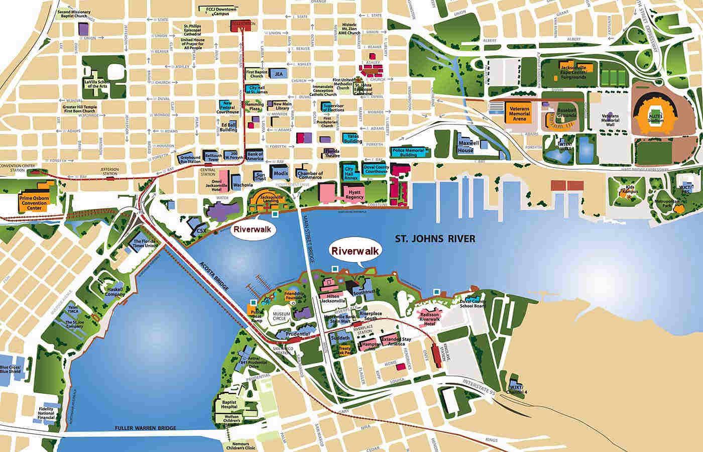 Printable Map Of Jacksonville Fl Area Zip Codes Neighborhoods Florida - Map Of Hotels In Jacksonville Florida