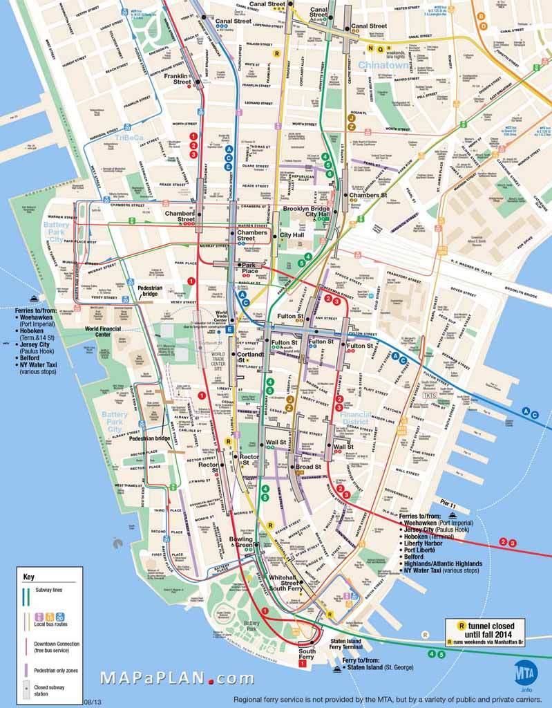 Printable Map Of Manhattan Ny   Travel Maps And Major Tourist - Printable Map Of New York
