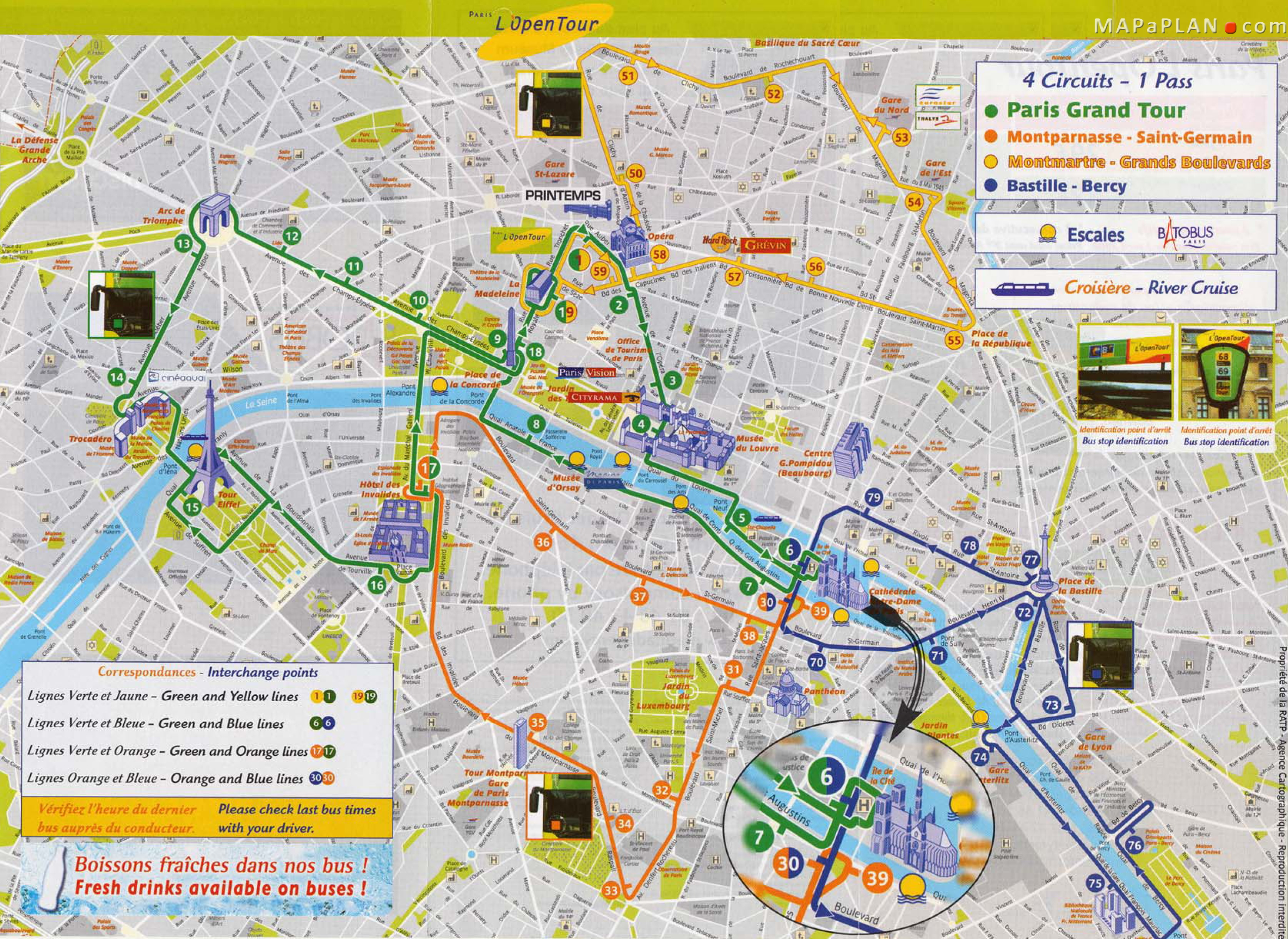 Printable Map Of Paris Download Map Paris And Attractions | Travel - Paris Printable Maps For Tourists