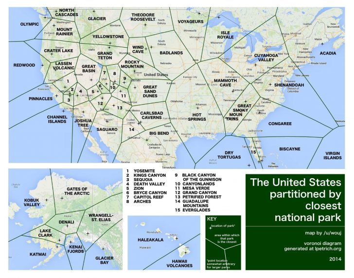 Printable Map Of National Parks
