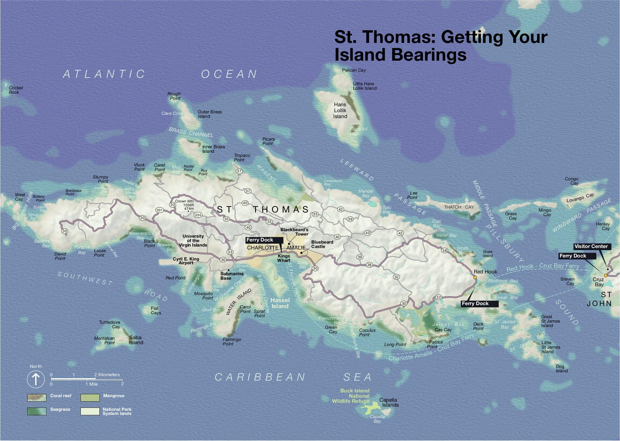 Printable Map Of Us Virgin Islands Best Printable Map St John Usvi - Printable Map Of St John Usvi