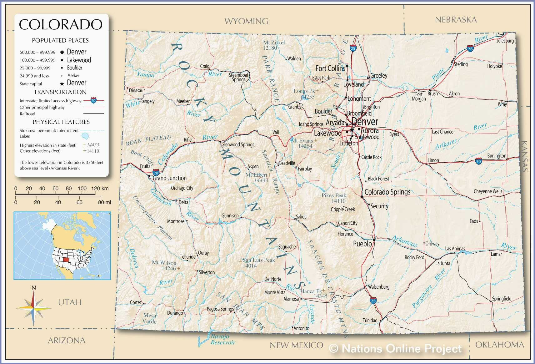 Printable Map Of Us With Major Cities New Denver County Map - Printable Map Of Colorado