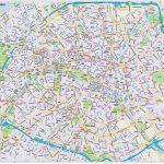 Printable Map Paris Paris City Map Style 2 In Illustrator Cs Or Pdf   Paris City Map Printable