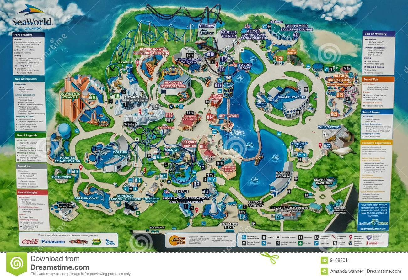 Printable Map Seaworld Orlando - Seaworld Orlando Map 2017 Printable