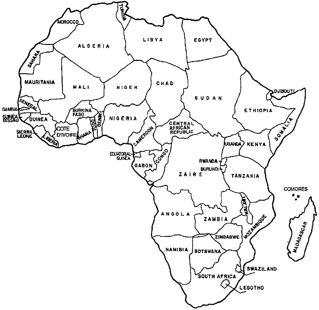 Printable Maps Africa | Bestprintable231118 - Printable Map Of Africa