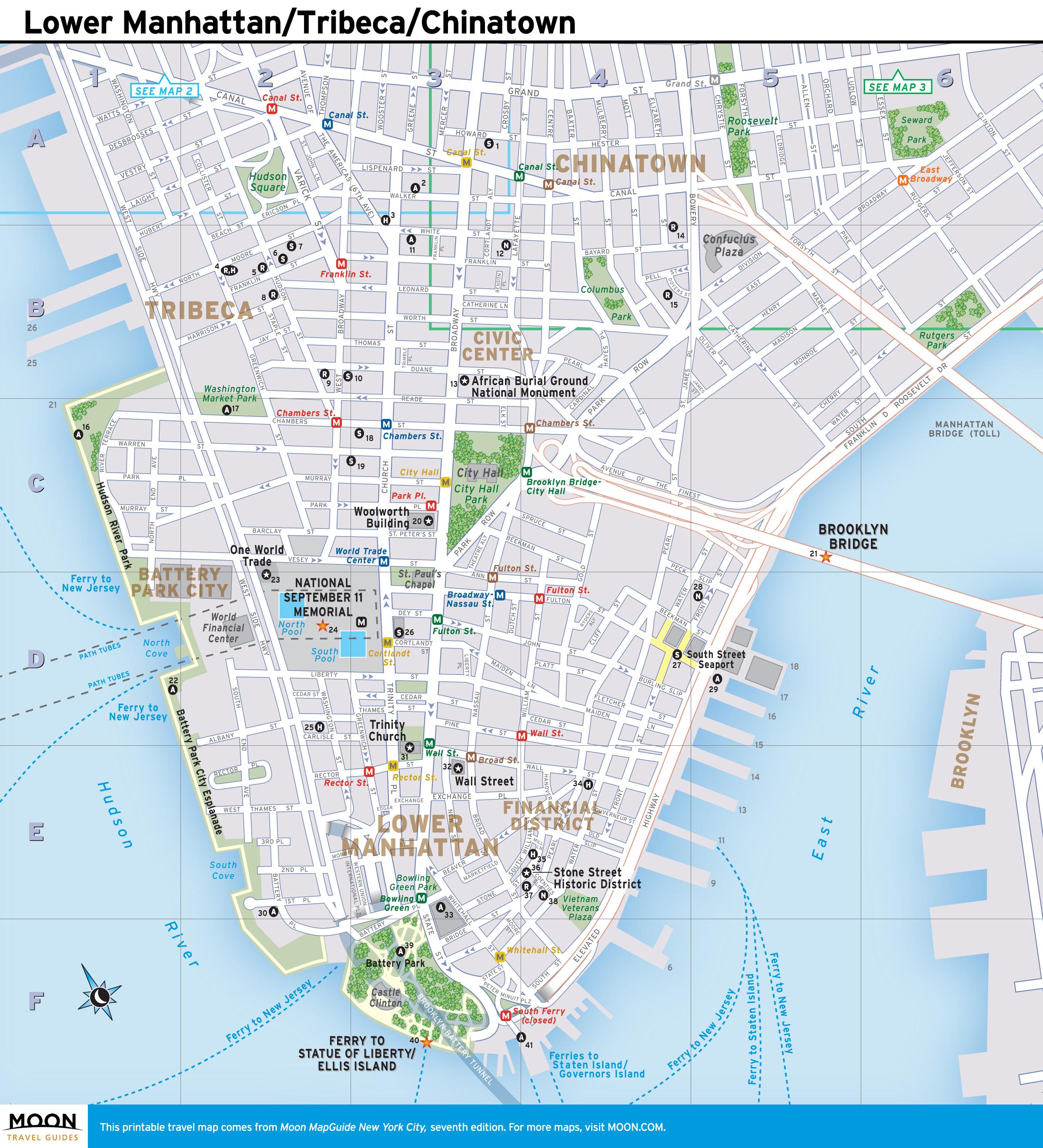 Printable New York Map Printable Travel Maps Of New York | Travel - Nyc Walking Map Printable