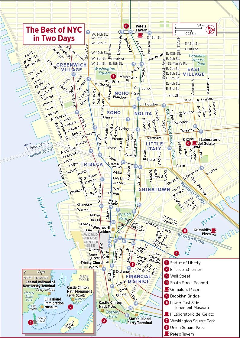 Printable New York Street Map | Travel Maps And Major Tourist - Printable City Street Maps